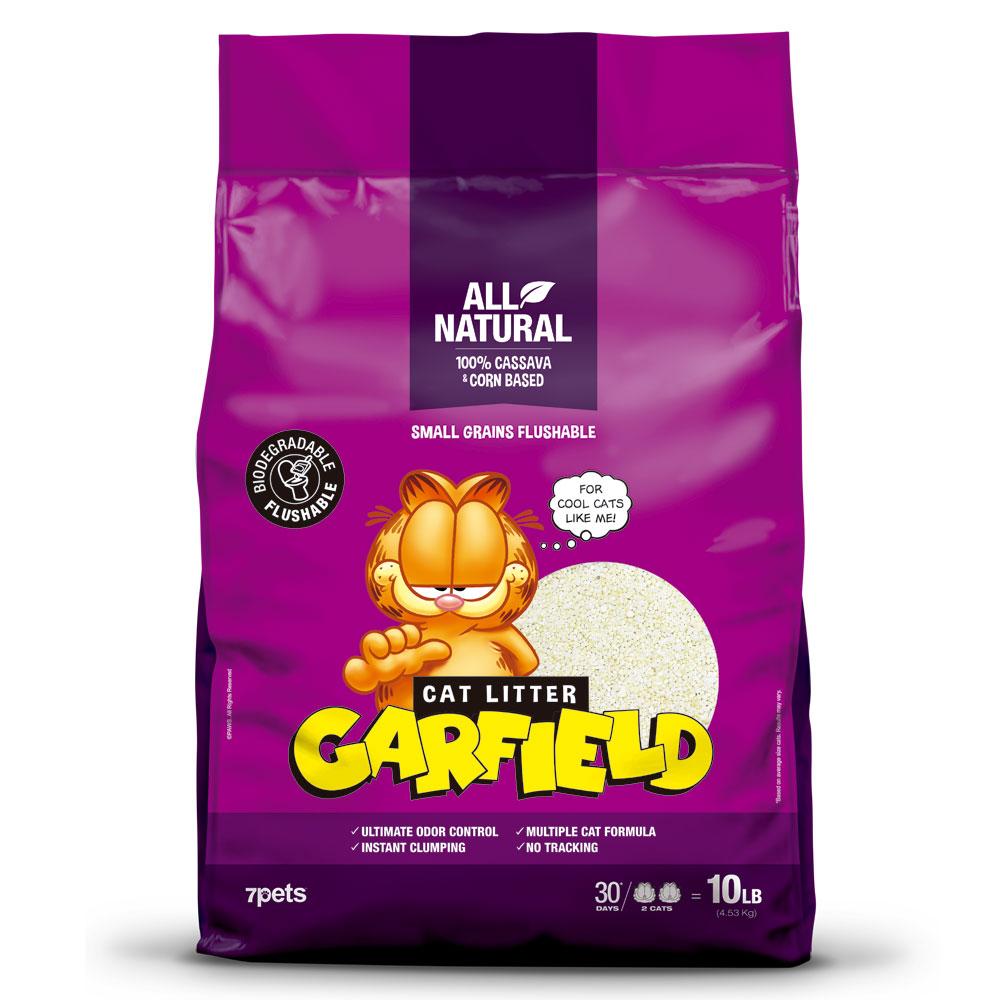 GARFIELD加菲貓凝結貓砂 紫款10磅 大顆粒 可沖馬桶
