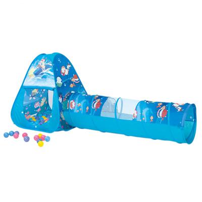 寶貝樂三角帳篷附隧道折疊遊戲球屋送100球