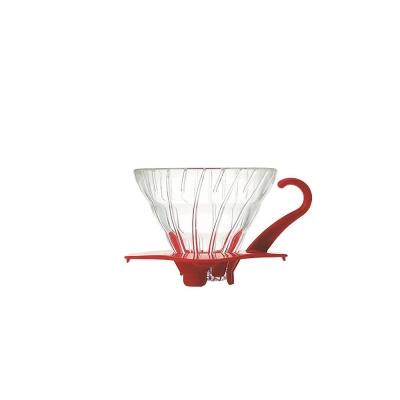 HARIO-V60紅色01玻璃濾杯1~2杯 / VDG-01R