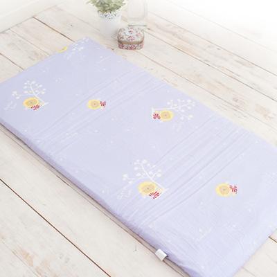 奶油獅-馬來西亞進口純天然乳膠嬰兒床墊-100-精梳純棉布套-幻紫-小60-120cm