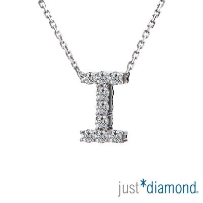 Just Diamond Love Words系列18K金鑽石墜子-I
