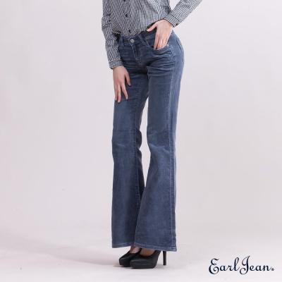Earl Jean低腰緊身喇叭褲-女-藍