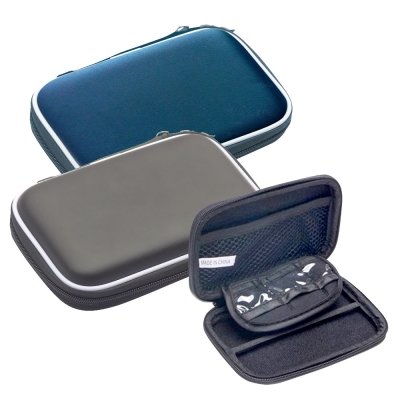 DataStone 多功能防震硬殼收納包【經典皮革】適2.5吋硬碟【加大版型】