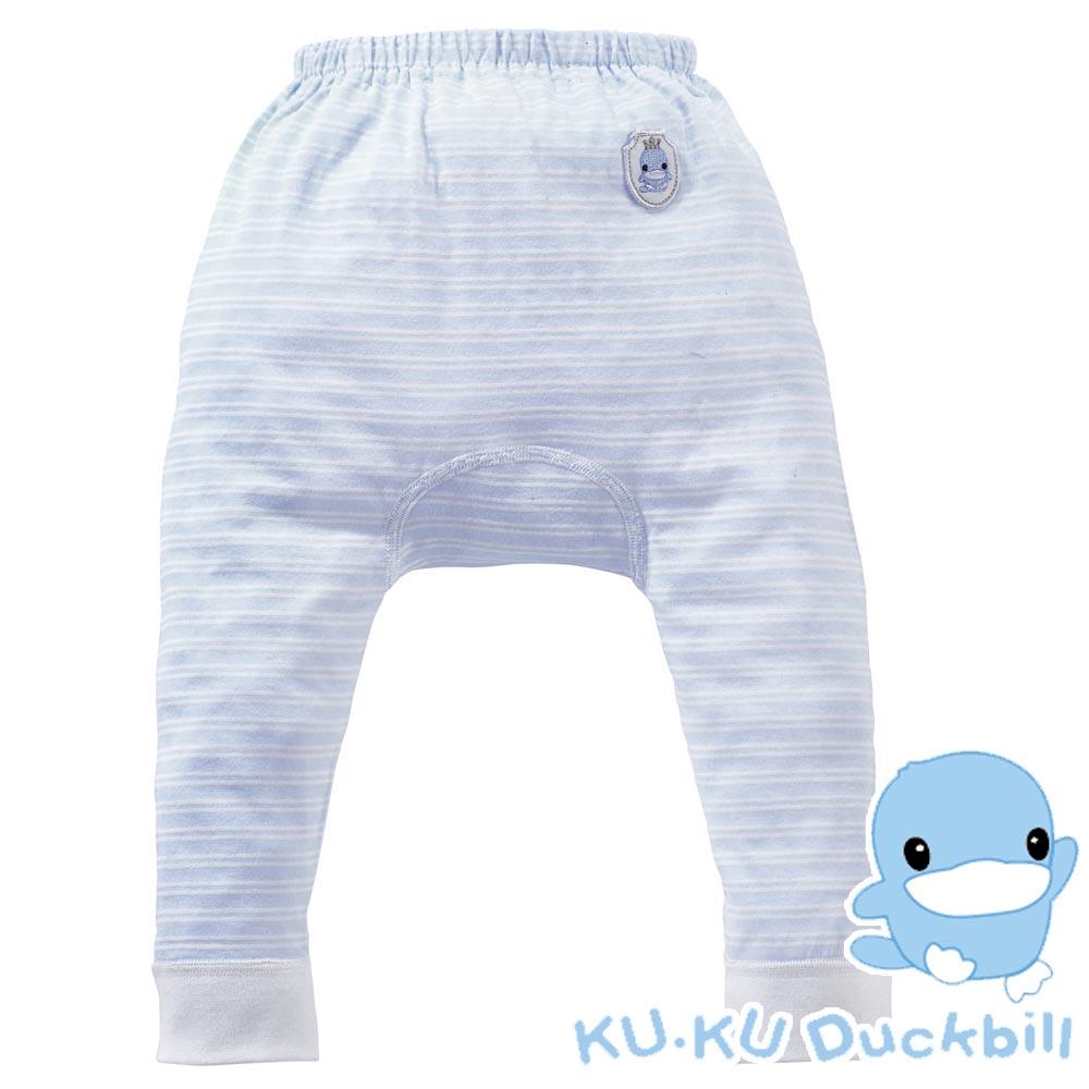 任選-KU.KU酷咕鴨-春夏舒柔綿排汗初生褲(藍)