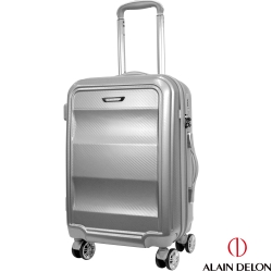 ALAIN DELON 亞蘭德倫 20吋極致碳纖維紋系列登機箱(銀)