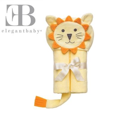 Elegant Baby 動物連帽浴巾-小獅子