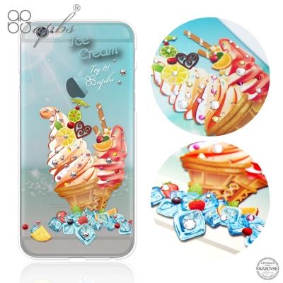apbs iPhone6s / 6 PLUS 5.5吋 施華洛世奇彩鑽手機殼-冰...