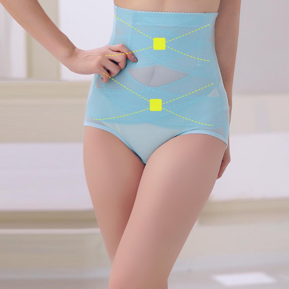 塑身褲 420丹2次方雙X加壓 ThreeShape 晶鑽藍 M-3XL