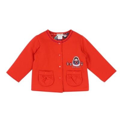 愛的世界 純棉俄羅斯娃娃舖棉兩面穿外套 6-8歲