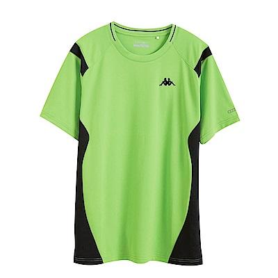 KAPPA義大利 時尚舒適型男KOOL DRY吸濕排汗衫 蘋果綠
