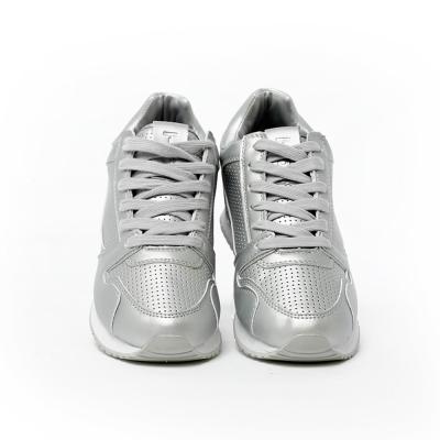TOP GIRL-慢跑運動休閒鞋-金屬銀