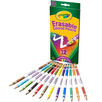 美國crayola 可擦拭12色彩色鉛筆(4Y+)