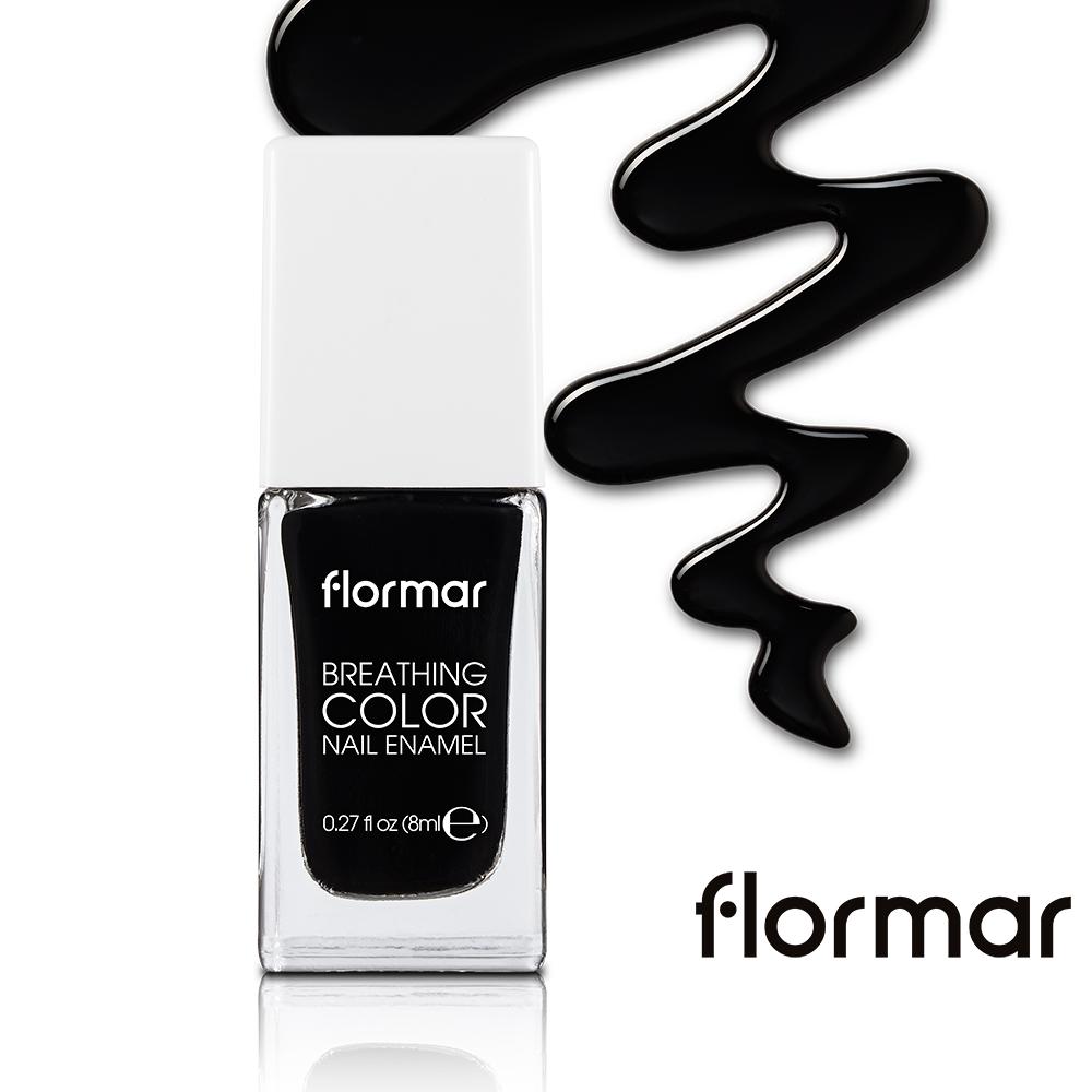 法國Flormar - 漫步義大利-輕羽指甲油 #24 黑天鵝的放肆