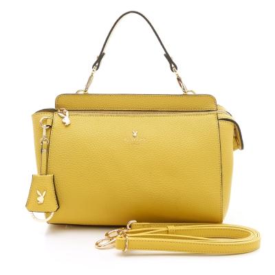 PLAYBOY-Arm-Candy-系列2WAY橫式手提包-黃色