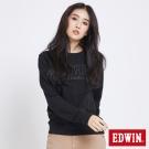 EDWIN 玩味立體LOGO模型長袖T恤-女-黑色