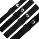 Watchband / DW代用各品牌通用米蘭編織不鏽鋼錶帶-黑色