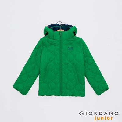 GIORDANO 可愛造型印花可拆帽舖棉外套 - 52 快樂綠