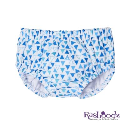 澳洲 RASHOODZ 兒童抗UV防曬游泳尿布褲 (水藍三角形)