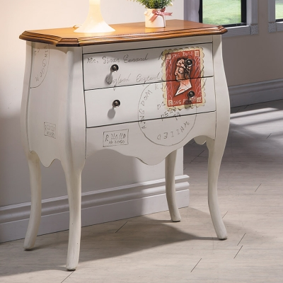 Bernice 夏特仿舊2尺二抽造型置物櫃/收納櫃