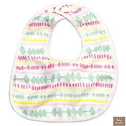 Baby unicorn 淡彩線條純棉造型圍兜口水巾