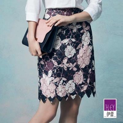 ILEY伊蕾 優雅甜美縷空蕾絲窄裙體驗價商品(粉)