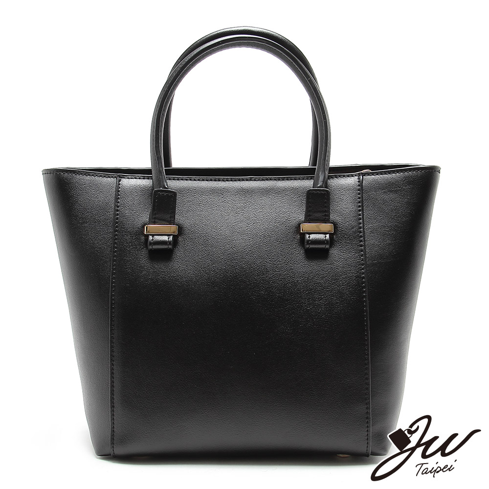 JW真皮首爾設計優柔細膩素雅肩背包 經典黑