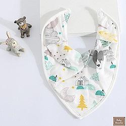 Baby unicorn 樹林純棉純棉三角造型圍兜口水巾