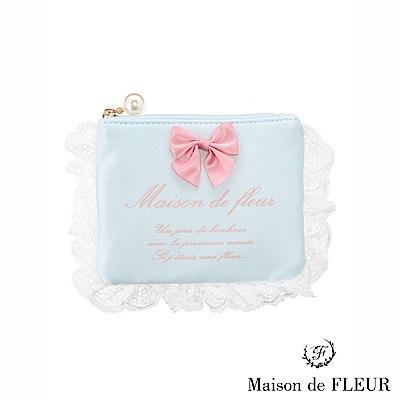 Maison de FLEUR 蕾絲薄紗花邊零錢包