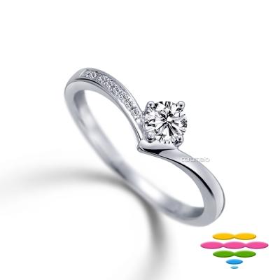 彩糖鑽工坊 19分鑽石 求婚鑽戒 甜蜜愛心系列