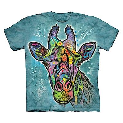 摩達客 美國進口The Mountain 彩繪長頸鹿 純棉環保短袖T恤