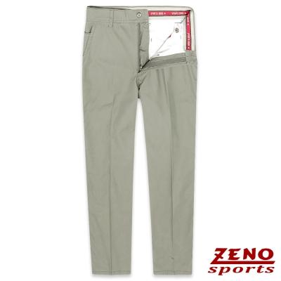 ZENO 有機棉質舒適無摺休閒褲‧卡其綠31-42