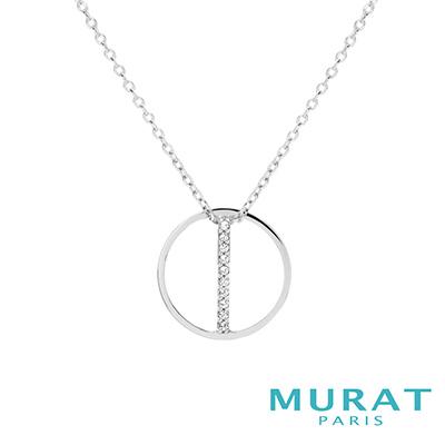MURAT Paris米哈巴黎 雅緻線條圓形項鍊
