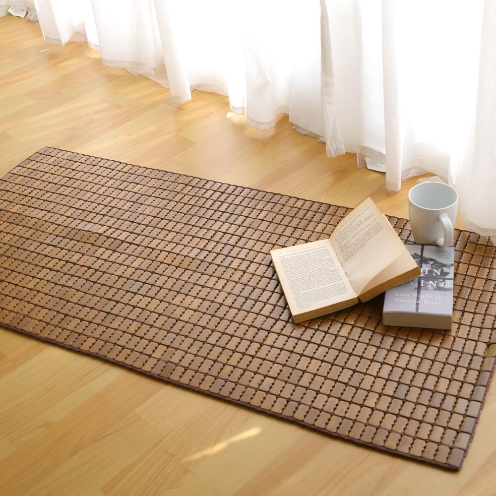 絲薇諾 天然炭化專利麻將竹坐墊-2人座(50×110cm)