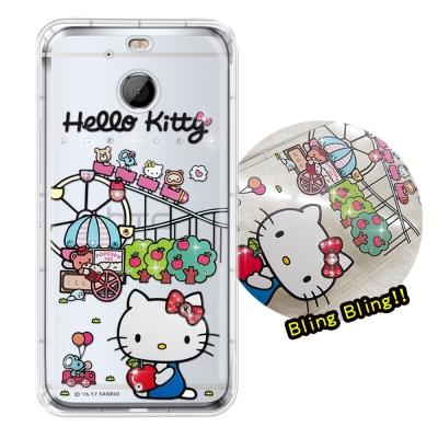 正版凱蒂貓 HTC 10 EVO 5.5 吋 夢幻童話 彩鑽氣墊手機殼(遊樂園)