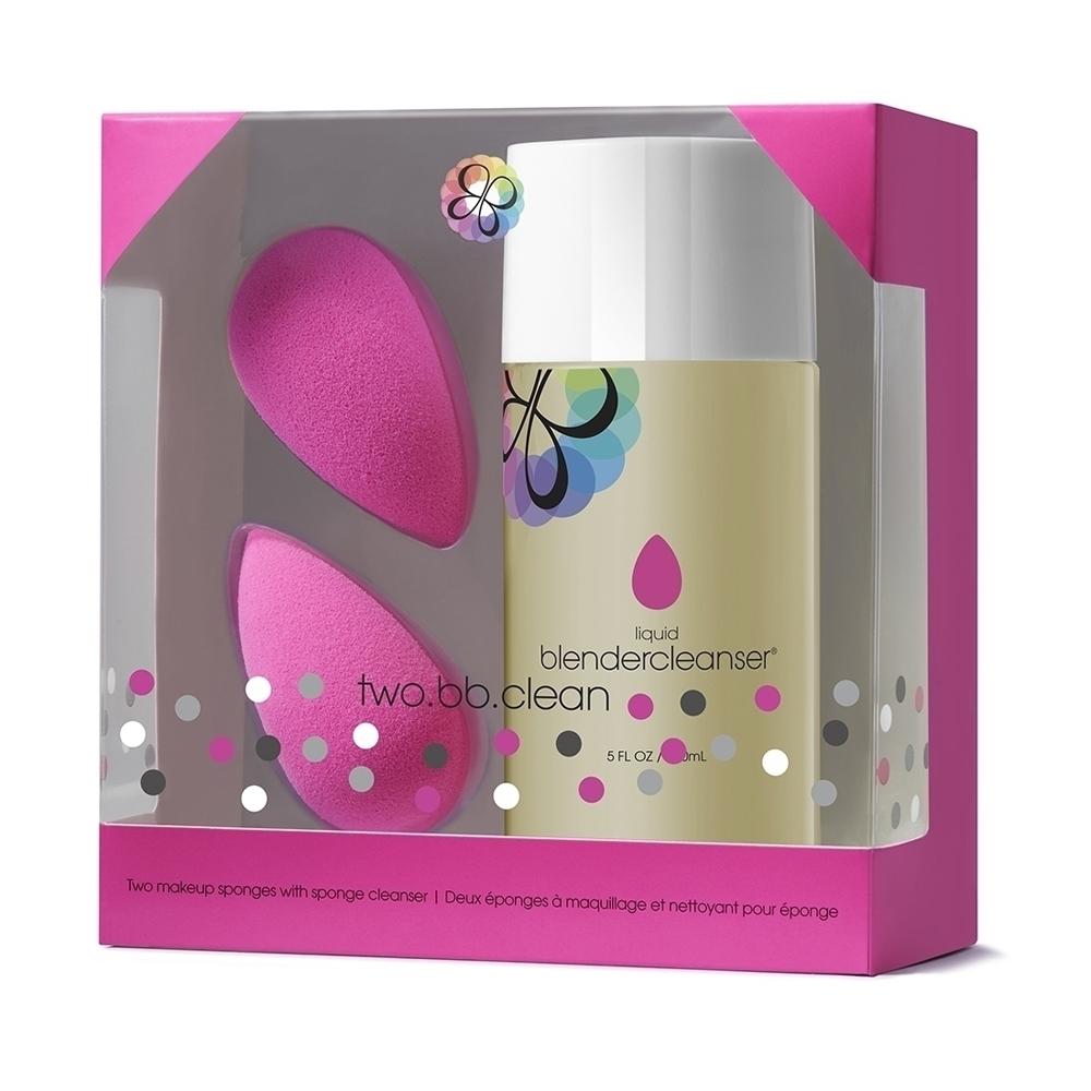 beautyblender two.bb.clean限定組合美妝蛋2入專用清潔液