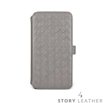 STORYLEATHER iPhone X Style-iPX7 硬殼式側翻編織...