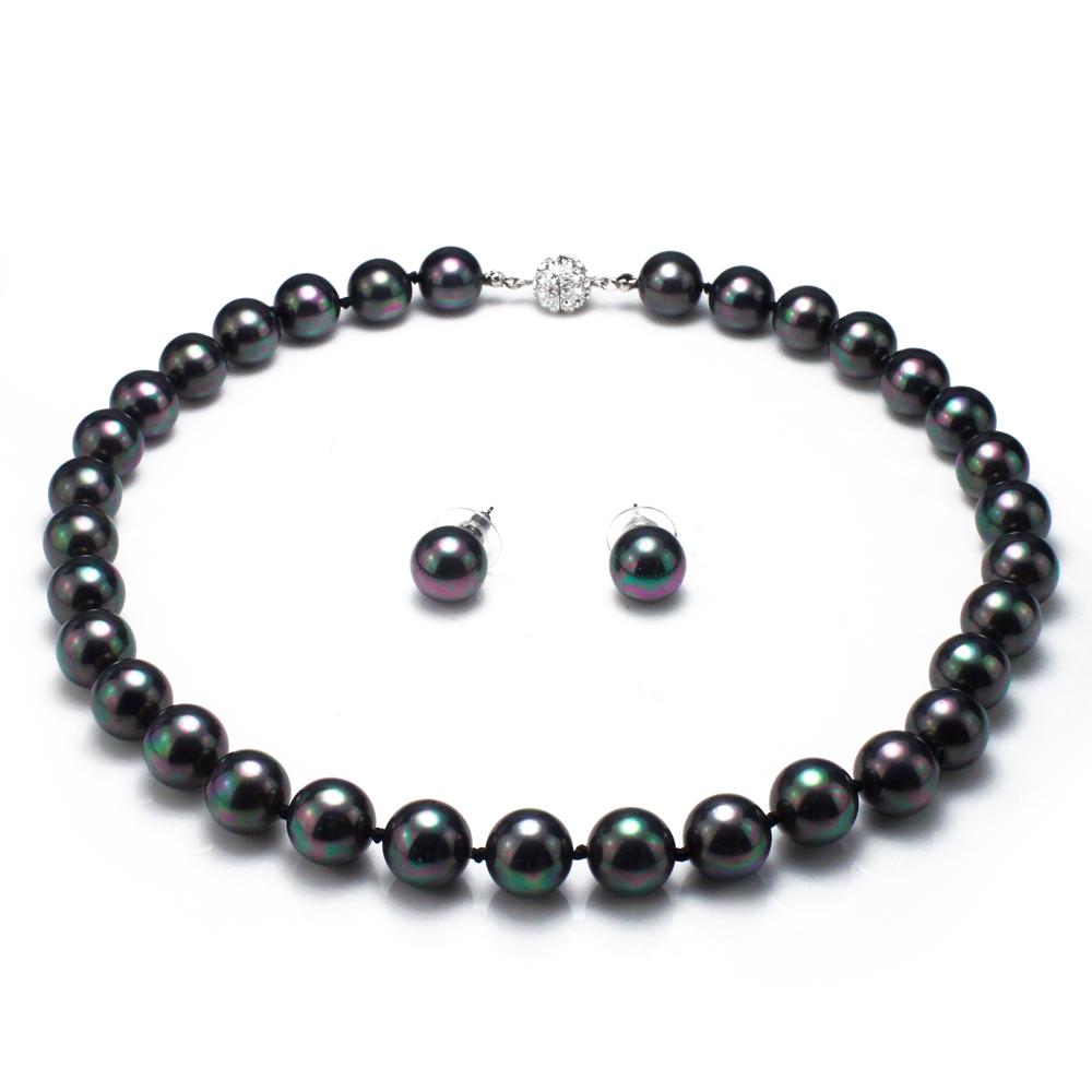 【大東山珠寶】12mm南洋貝寶珠套組(黑)