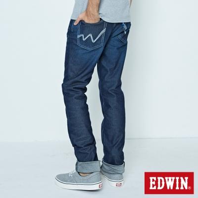 EDWIN 大尺碼AB褲 迦績褲JERSEYS涼感牛仔褲-男-原藍磨