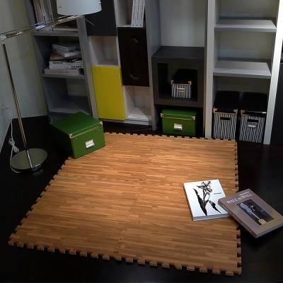 【新生活家】耐磨拼花木紋地墊深4入62x62x1.4cm