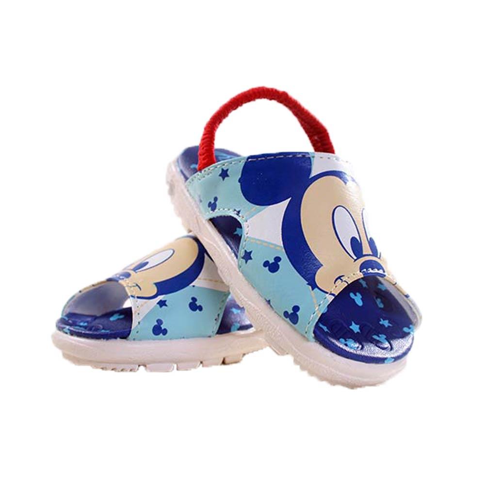 迪士尼 台灣製-寶寶嗶嗶鞋 涼鞋款 sh8305