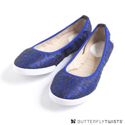 BUTTERFLY TWISTS-IZZIE可折疊扭轉芭蕾舞鞋-寶藍 @ Y!購物
