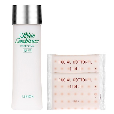 ALBION艾倫比亞 健康化妝水N(330ml)+按摩化妝棉(2入)x2