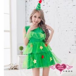 角色扮演 俏皮閃爍 聖誕樹表演派對服(綠F) AngelHoney天使霓裳