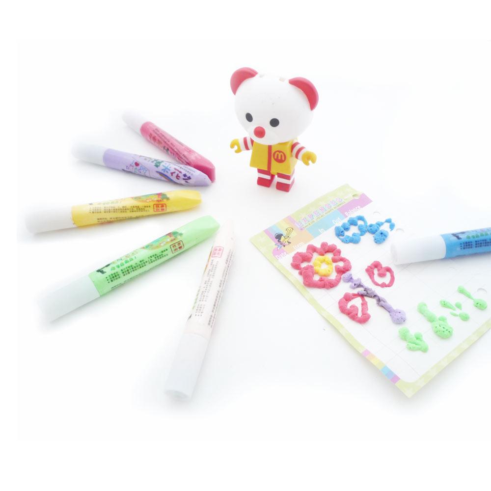 神奇爆米花泡泡筆 色彩鮮豔立體彩色筆組(6色入)