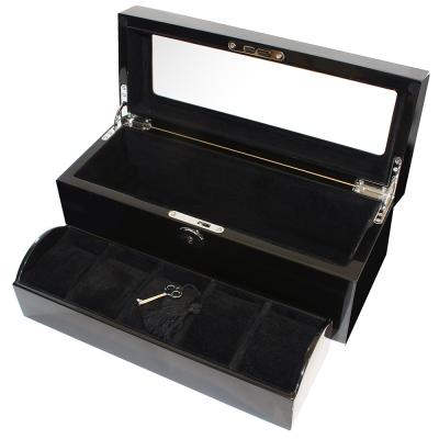 PARNIS BOX 5只入鋼琴收藏盒 黑色內裡 附鑰匙 夾層設計 鋼琴12-1