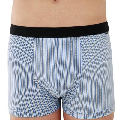 SOLIS 百搭條紋系列M-XXL竹碳纖維貼身四角褲(尊爵藍)