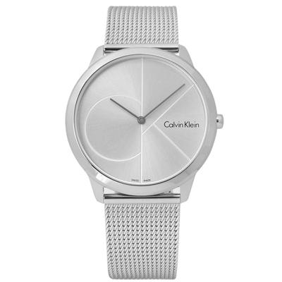 CK 真愛時刻經典簡約米蘭編織不鏽鋼手錶 - 銀色 /40mm