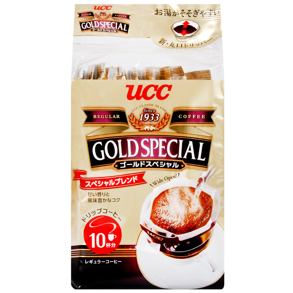 UCC GOLD濾式咖啡10入-特級(80g)