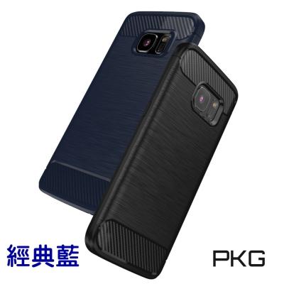 PKG Samsung S8  抗震防摔手機殼-碳纖維紋系列-經典藍