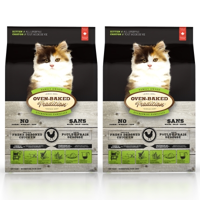 Oven-Baked烘焙客 幼貓 雞肉口味 低溫烘焙 非吃不可  2 . 5 磅 X  2 包